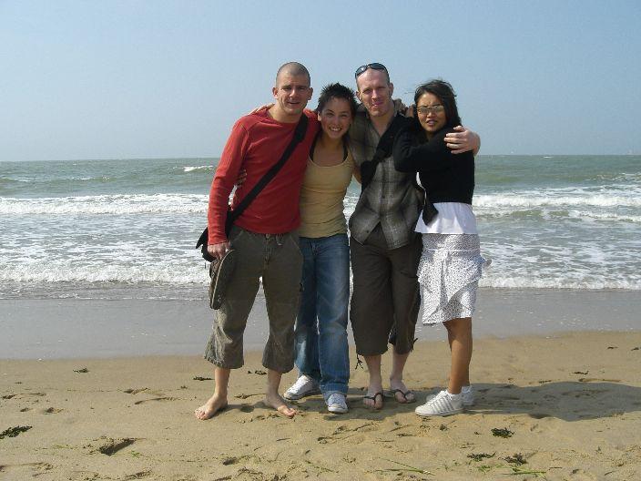 Aan het strand van Knokke
